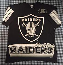 Vintage Oakland LA Las Vegas Raiders Salem Sportswear T-Shirt Size Large Black