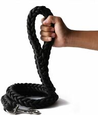 Black Heavy Duty Strong Durable Dog Leash Dog leashes Braid Thick Dog Lead Rope