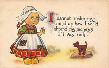Dutch Girl~Can't Make Mind Up: How Vould I Spend My Moneys if Rich?~Cat Laughs