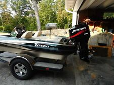 2003 Triton Bass Boat with Motor and Trailer