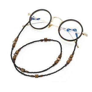 Vintage Wooden Beads Beaded Glasses Chain No Fading Sun Eyeglasses Hanging Chain