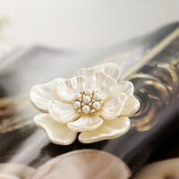 Flower Pearl Rhinestone Wedding Bridal Bouquet Crystal Elegant Brooch Pin