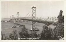 """Vintage old photo postcard from collection"" San Francisco - Oakland Bay Bridge"
