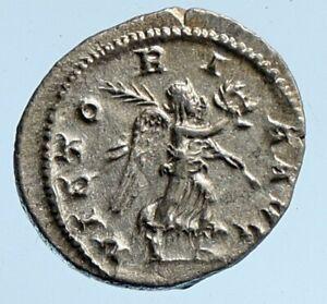 Maximinus I Thrax 235AD Silver Rare OLD Ancient Roman Coin VICTORY PALM i95882