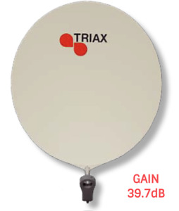 PARABOLE FIBRE TRIAX DAP 910 90CM CRÈME GAIN 39.7dB