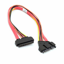 Cablecc SATA III 3.0 7+15 22 Pin SATA Male to Female Data Power Extension Cable