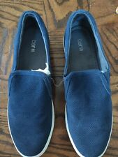NEW MENS BAR III NAVY BLUE BRANT SUEDE PERFORATED CASUAL SLIP ON SHOE SIZE 12M
