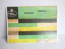 Faber Castell Duplex Precision Slide Rule 2/82 & 62/82 Instruction Manual