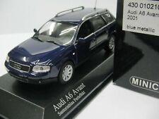 WOW EXTREMELY RARE Audi A6 C5 3.0 30V Avant 2001 Facelift Blue m 1:43 Minichamps