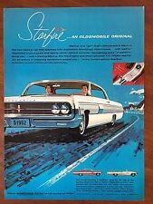 Vintage 1962 Original Print Ad OLDSMOBILE STARFIRE Coupe & Convertible