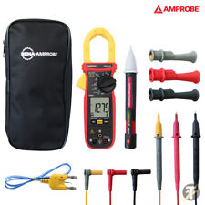 Amprobe AMP-320 TRMS HVAC Clamp Multimeter with Case and Lead Set plus Voltstick