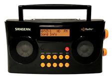 Sangean HD Radio/FM-Stereo/AM Portable Radio Special Edition Gloss Black Orange