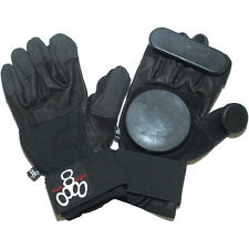 TRIPLE EIGHT LONGBOARD SLIDE GLOVES - SIZE: X-SMALL - COLOR: BLACK - NEW!!!