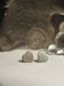 Genuine Tiffany & Co. 925 Sterling Silver Return To Heart Stud Earrings no backs