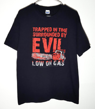 Army of Darkness T-Shirt | Surrounded by Evil, Low on Gas Evil Dead | Mens Large