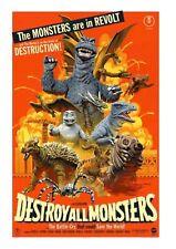 MONDO Godzilla Destroy All Monsters Art Print Movie Poster By Paul Mann XX/275