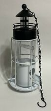 Solar Hanging Bird Feeder in the Shape of a Light House