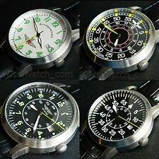 Big New AVIATOR POLJOT Полет Stainless steel Wrist Watch in BOX with certificate