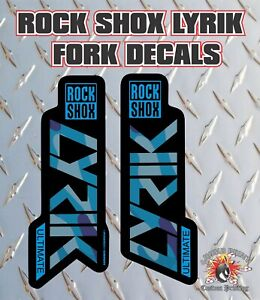 Rockshox Lyrik Ultimate 2019 Style Fork Sticker Decal Graphics Enduro,DH,bl camo
