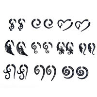 Acrylic Spiral Gauge Ear Plug Fake Cheater Stretcher Flesh Earrings Piercing  LY