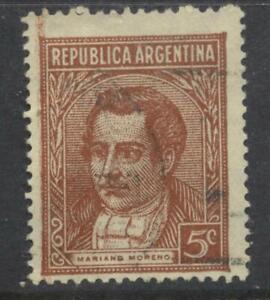 Argentina 1935 Moreno 5c brown used