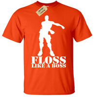 Kids Boys Girls FLOSS LIKE A BOSS Inspired T-shirt dance Tee Gift