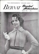 Bernat 185 Vintage Knitting Pattern Book Women Mohair Sweater Handicrafter 1958