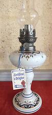 lampe pétrole faience Desvres Fourmaintraux Dutertre décor Rouen