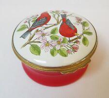 Halcyon Days Porcelain Trinket Box Red Birds