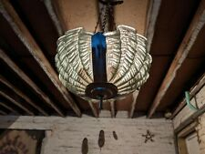 More details for antique odeon art deco clam green ceiling light