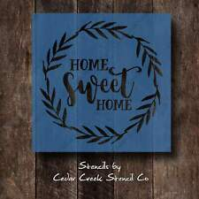 Home sweet home wreath stencil, resuable craft stencil for sign making, farmhous