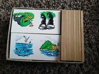 Vintage Arnold Griffin Dominoes - vintage educational toy - word game kg885000