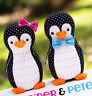 PATTERN - Piper & Pete - fun penguin softie PATTERN from Melly & Me