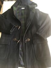 Ralph Large 100%Wool Toggle Duffle Coat Navy Blue and Blackwatch Jacket USA