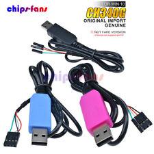 Genuine PL2303TA/CP2102/CH340G USB a TTL RS232 Cable de Descarga Compatible WIN10
