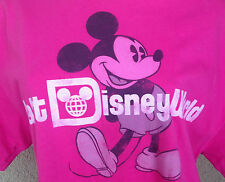 Walt Disney World Hot Pink T-Shirt Tshirt Classic Mickey Mouse Haines L Cotton