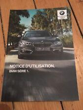 Manuel Notice BMW D Utilisation BMW Serie 1 2018
