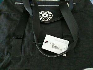 Kipling Black Duffle Tote Gym bag KIM TM5433 nwt removable inner zip clear pouch