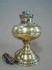 Converted Oil - Electric Brass Lamp 11 3/4'' Tall