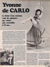 Coupure de presse Clipping 1976 Yvonne de Carlo  (3 pages)