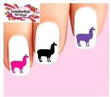 Waterslide Nail Decals Set of 20 -Llama Assorted