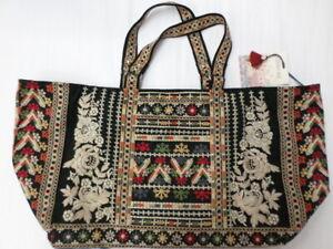 NWT Johnny Was Embroidered Aliya Tote Bag - OL45080821