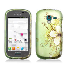 For Samsung Galaxy Exhibit T599 HARD Case Phone Cover Green Flower Butterfly