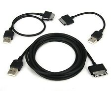 "6ft+1ft+4"" LONG/SHORT USB Cables for Samsung Galaxy Tab 2 7.0 10.1 8.9 7.7 Plus"