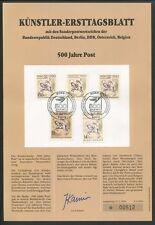 BELGIEN KÜNSTLER-ETB 1990/2 500 JAHRE POST DÜRER POSTREITER PFERD HORSE z577