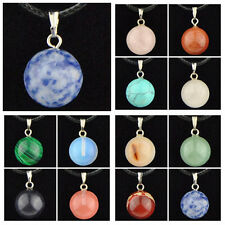 Wholesale 12 PCS Lovely Natural Stone Ball Pendant Necklace