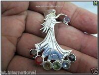Jet Fairy Angel Metal Chakra Pendants Healing Chakra Balancing Gemstone Gift