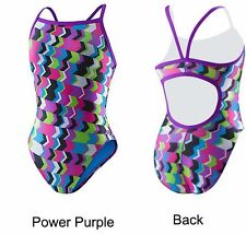 NEW Speedo 2 28 Swimsuit Women's POWER PURPLE Competition Racing Athletic
