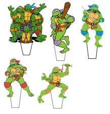 "14 x 3""  Ninja Turtle Pre-Cut Stand up Edible Wafer Cupcake Toppers"