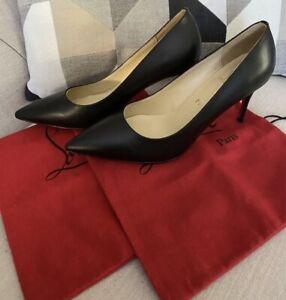 CHRISTIAN LOUBOUTIN Kate 85 mm Black Patent Leather- Eu 40